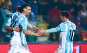 Argentina goleia o Paraguai por 6 a 1 e garante vaga na final contra o Chile