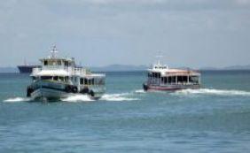 Por conta da maré baixa, travessia marítima para Mar Grande é interrompida