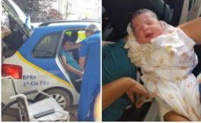 Policiais realizam parto de bebê em rodovia de Simões Filho