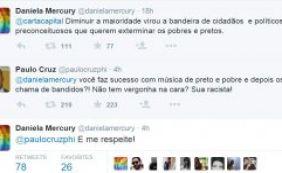 Redução da maioridade penal provoca bate-boca entre Daniela Mercury e seguidores