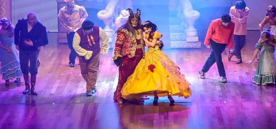 """O espetáculo musical \""""A Bela e a Fera\"""" faz apresentação no TCA neste sábado; veja"""