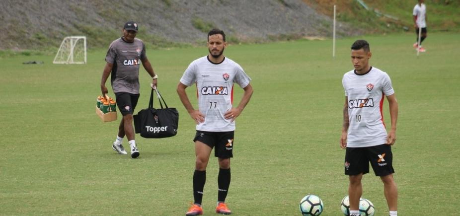 Mancini finaliza penúltimo treino do Vitória para enfrentar o Coritiba