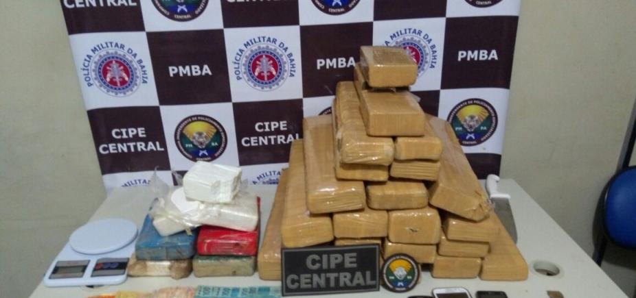 Polícia faz abordagem e apreende 50 kg de maconha em Jequié