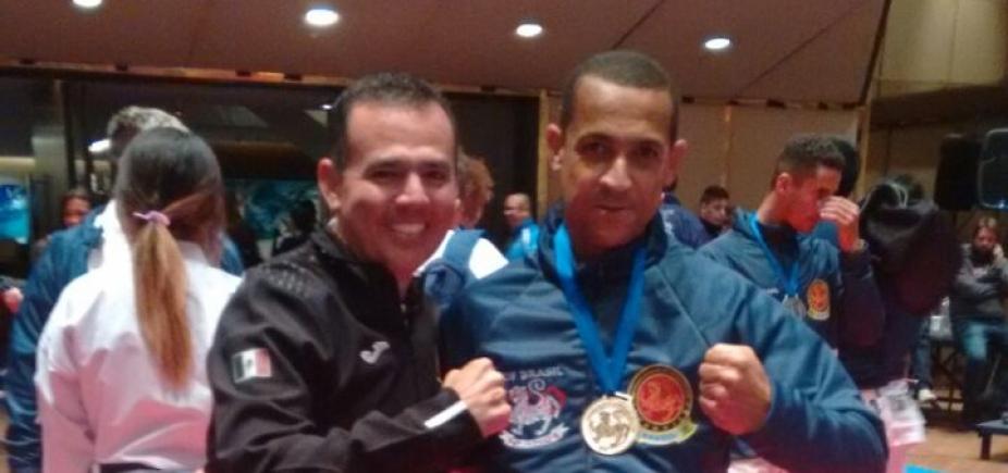 Policial militar baiano ganha ouro e bronze no Campeonato Pan-americano de karatê na Argentina