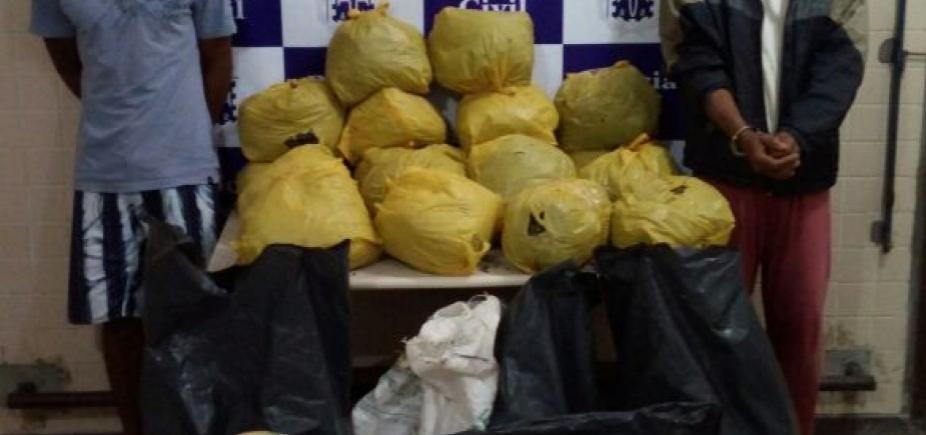 Operação apreende 30 kg de maconha e prende quatro suspeitos de tráfico em Catu