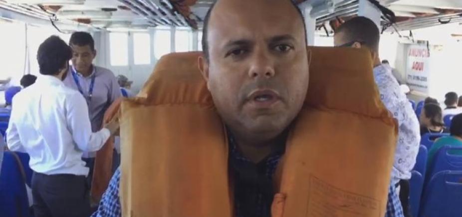 Após matéria da Metrópole, vereador faz blitz em embarcação da travessia Salvador-Mar Grande