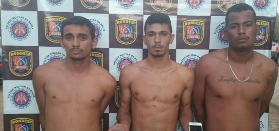 Trio acusado de assalto é preso após atirar contra policial em Barreiras