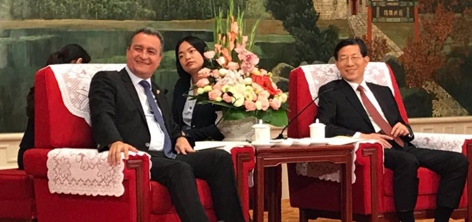 """Em reunião com Rui Costa, prefeito chinês diz que \""""vai estudar e aprender com a Bahia\"""""""