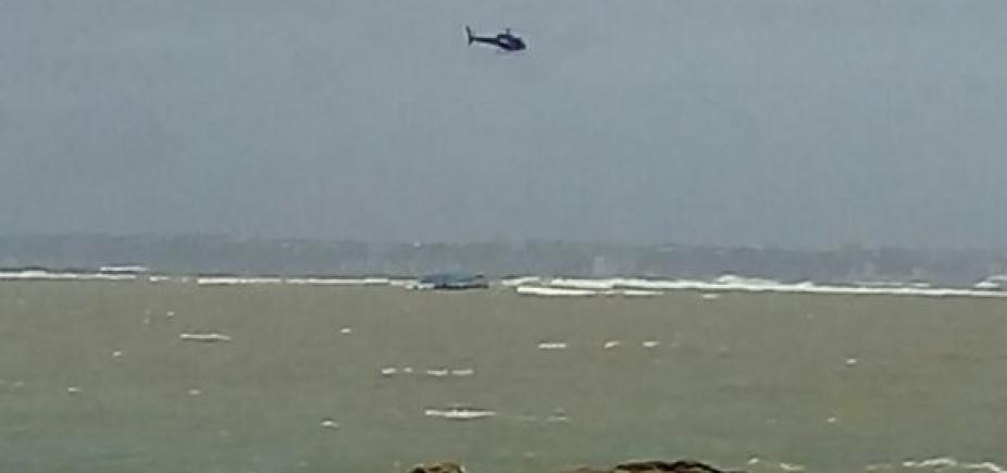 Marinha confirma que não havia tripulantes em embarcação à deriva na Baía de Todos os Santos