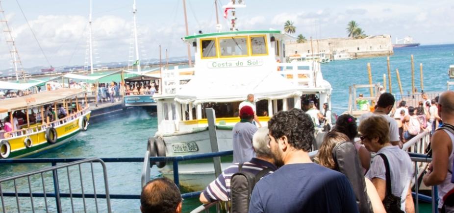 Salvador-Mar Grande: travessia não opera nesta segunda-feira por mar agitado