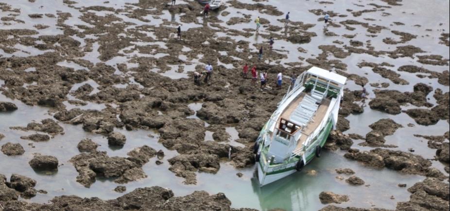Devido ao mau tempo, buscas por vítima desaparecida em Mar Grande serão feitas por terra