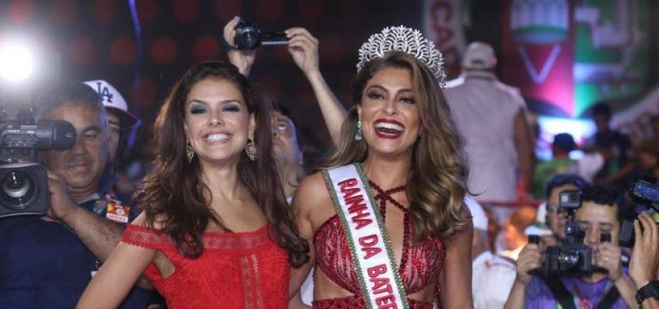 Juliana Paes é ovacionada em coroação na Grande Rio e ganha elogio de Ivete Sangalo; vídeo