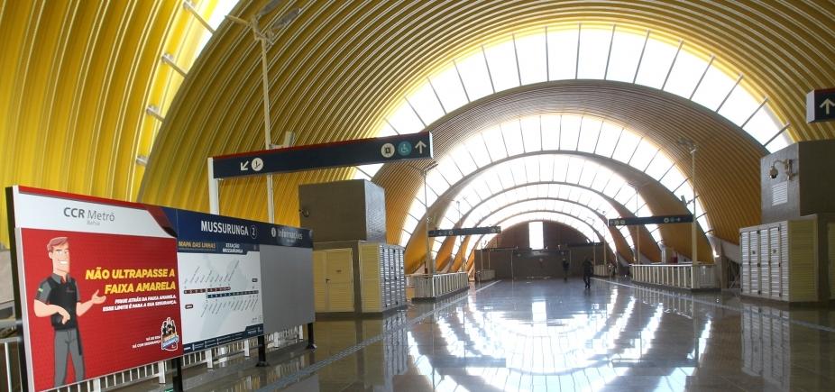 Metrô entra em fase final de testes entre estações Pituaçu e Mussurunga