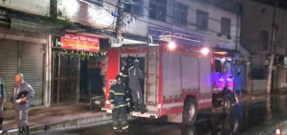 Box do mercado São Miguel pega fogo durante a madrugada