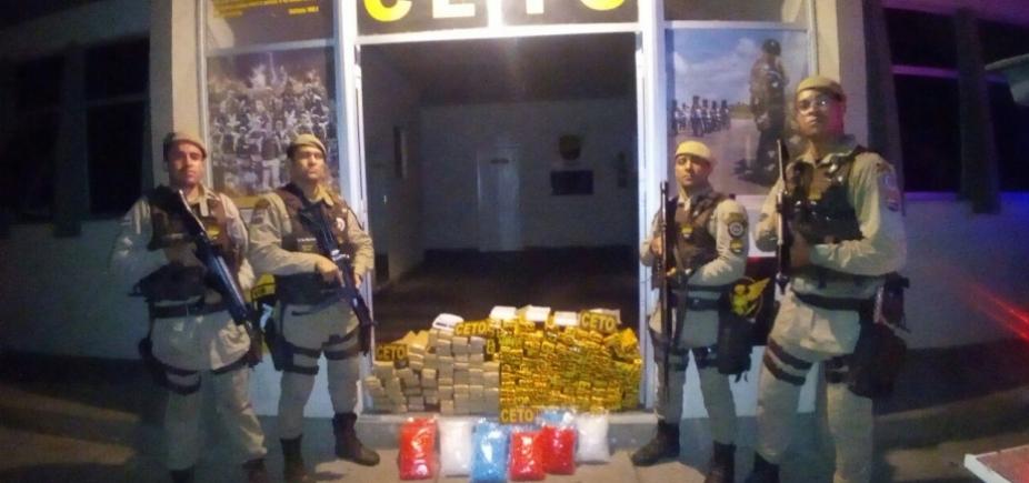 Mais de 130 kg de drogas são apreendidos durante operação em Itabuna