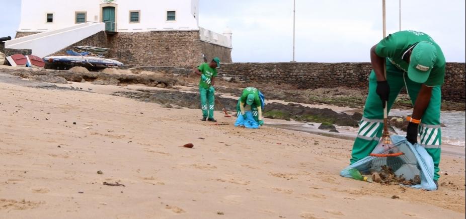 Limpurb recolhe 50 toneladas de lixo por dia nas praias de Salvador; veja as mais sujas