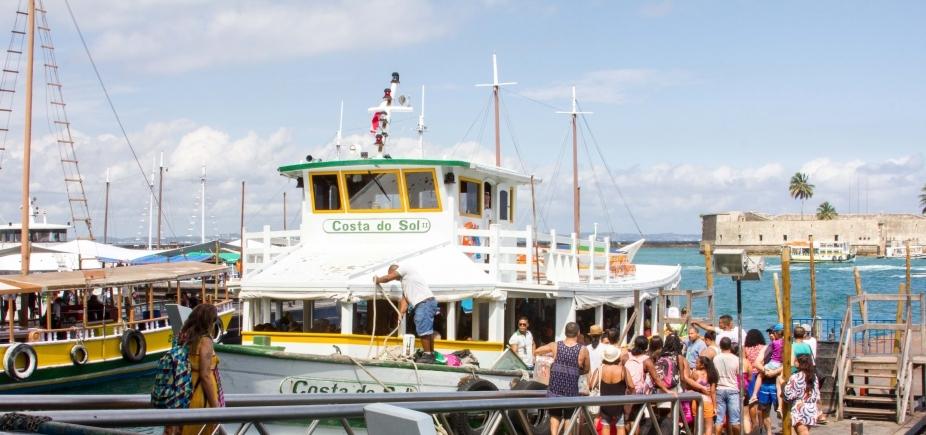 Por conta de maré baixa, travessia Salvador - Mar Grande é suspensa na manhã desta quinta
