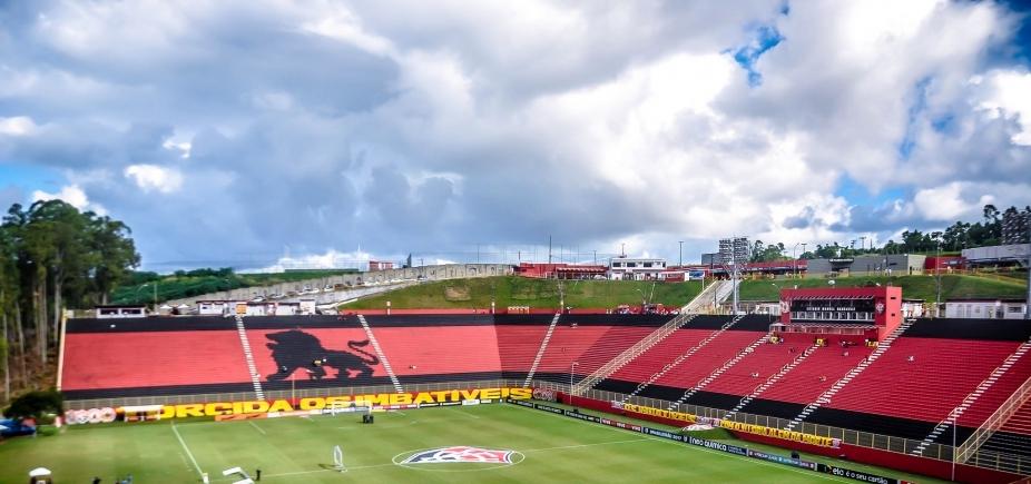 Catracas do Barradão apresentam problema antes de Vitória x São Paulo