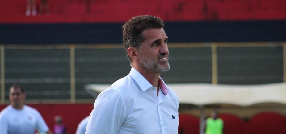 """Mancini reclama da falta de \""""equilíbrio emocional\"""" do Vitória dentro do Barradão"""