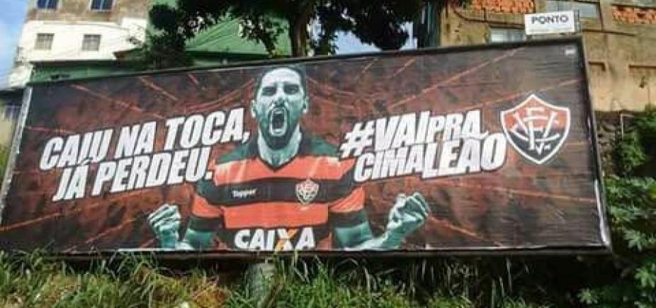"""Nova campanha do Vitória gera revolta nas redes sociais: """"Caiu na Toca, já perdeu"""""""