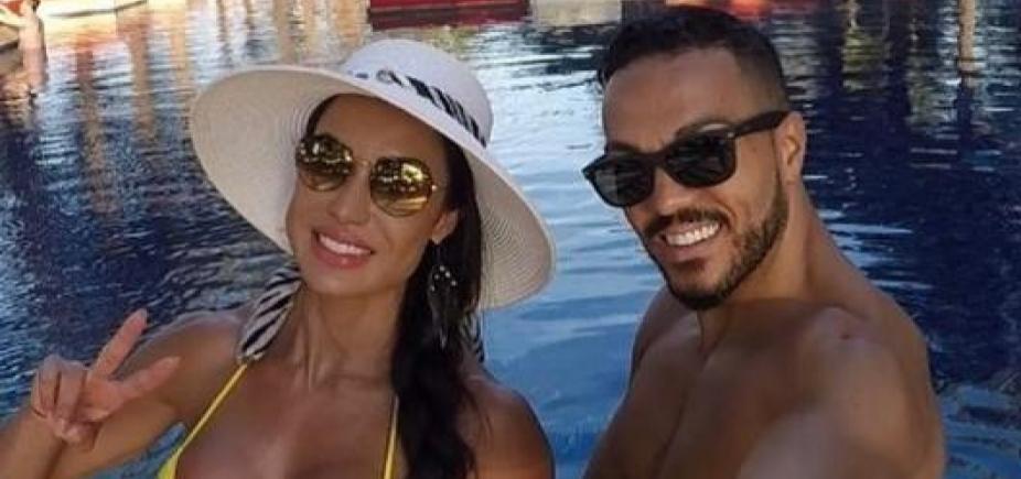 """Marido babão! Cantor Belo elogia foto de Gracyane de biquíni: \""""Minha novinha\"""""""