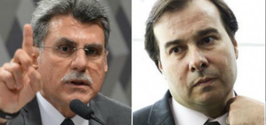 """Maia reclama de assédio e Jucá diz que presidente da Câmara está \""""mal informado\"""""""