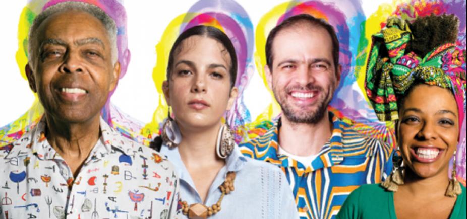 """Concha recebe show de Gil em celebração aos 40 anos do disco """"Refavela""""; veja"""