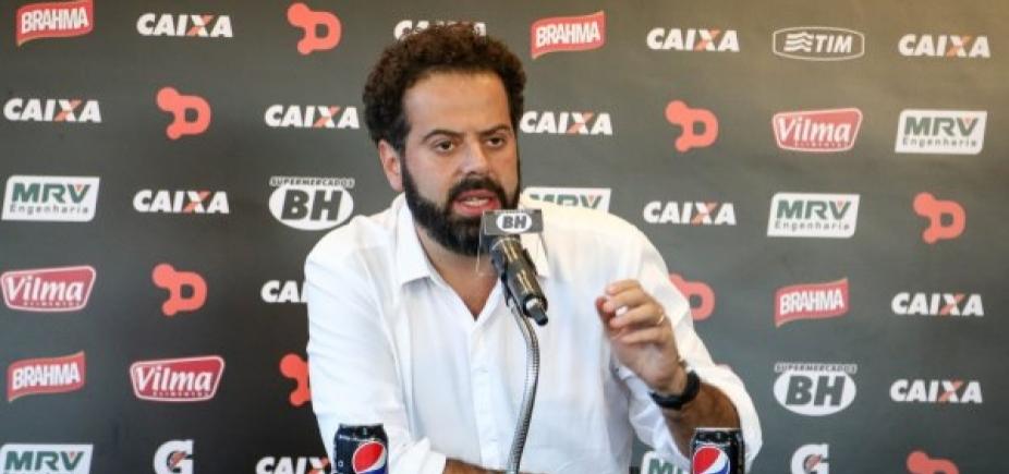 """Após derrota, presidente do Atlético-MG demite técnico e polemiza: """"Não posso aceitar perder para o Vitória"""""""