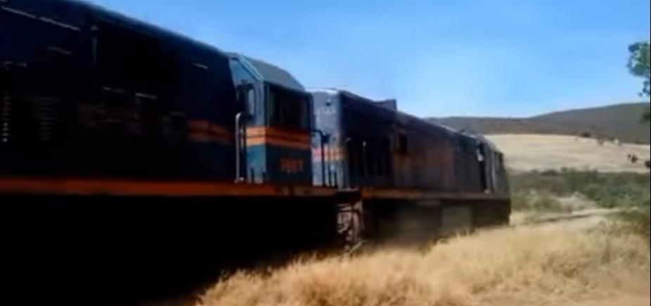 Homem morre esmagado por trem em Brumado, na Bahia