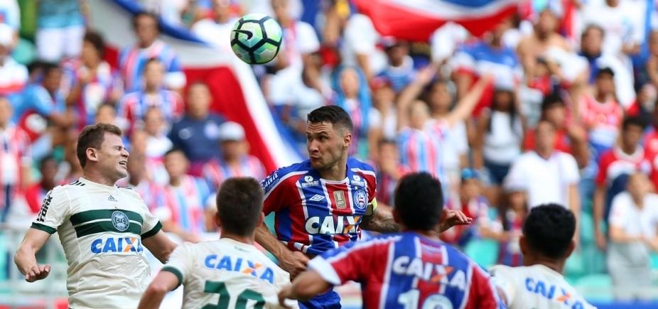 Bahia empata em 1 a 1 com o Coritiba dentro da Arena Fonte Nova