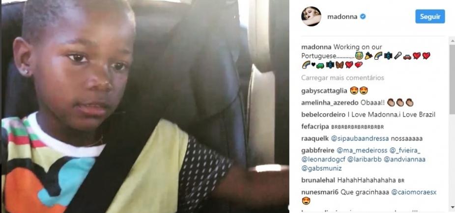 Madonna ensina português às filhas com ajuda de funk brasileiro; vídeo
