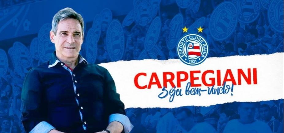 Bahia confirma a contratação de Paulo César Carpegiani