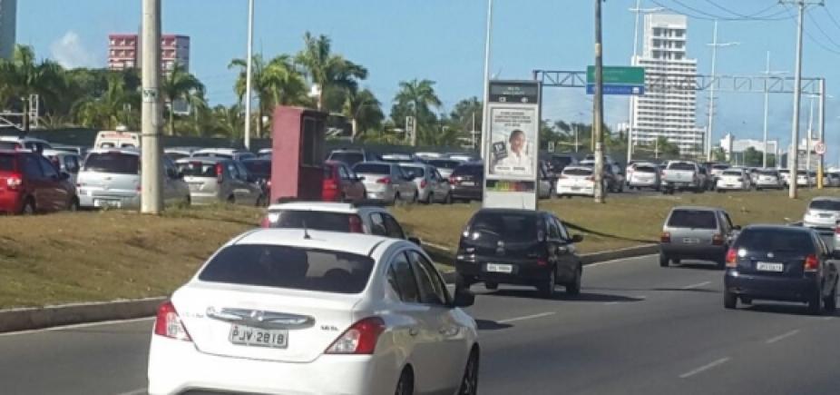 Lentidão em alguns pontos da cidade devido ao fluxo de veículos do horário
