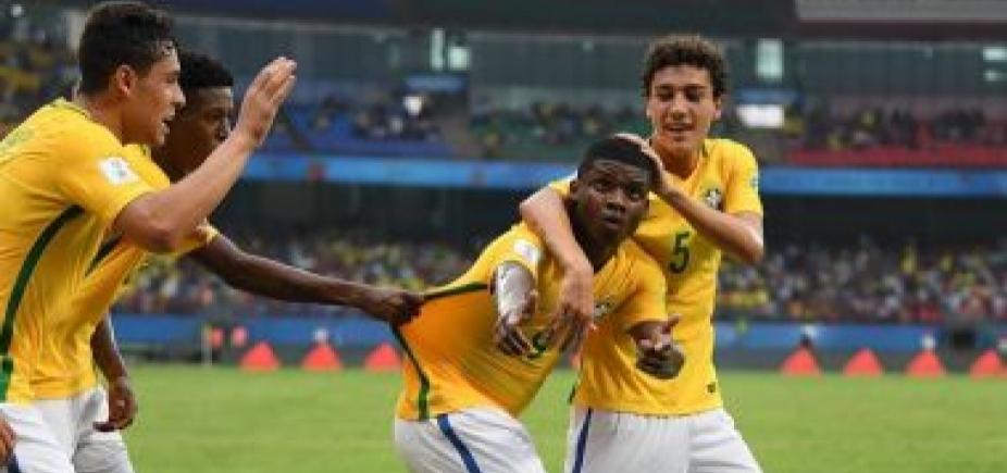 Seleção brasileira sub-17 vence Espanha por 2 a 1 na estreia do Mundial