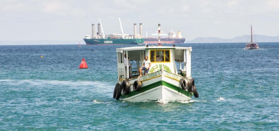 Maré baixa suspende travessia Salvador-Mar Grande até o meio dia