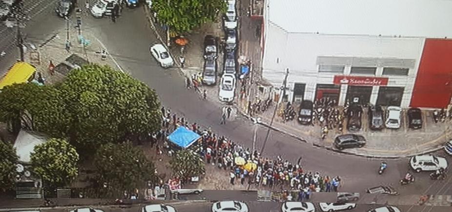Criminosos invadem agência bancária no bairro da Calçada