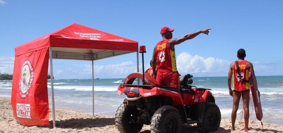Feriado: crianças receberão pulseiras de identificação pelo Corpo de Bombeiros nas praias de Salvador