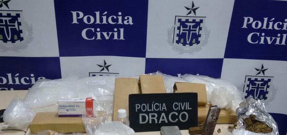 Drogas avaliadas em R$ 20 mil são apreendida na Gamboa