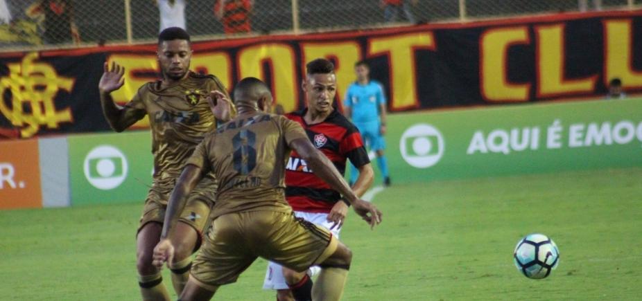 Mais uma! Vitória não joga bem e perde por  2 a 1 do Sport no Barradão