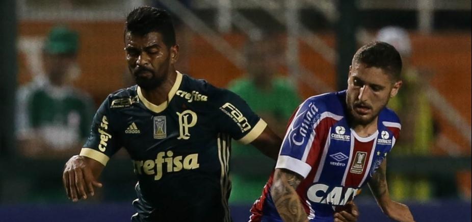 Com gol no fim, Bahia arranca empate com o Palmeiras em 2 a 2