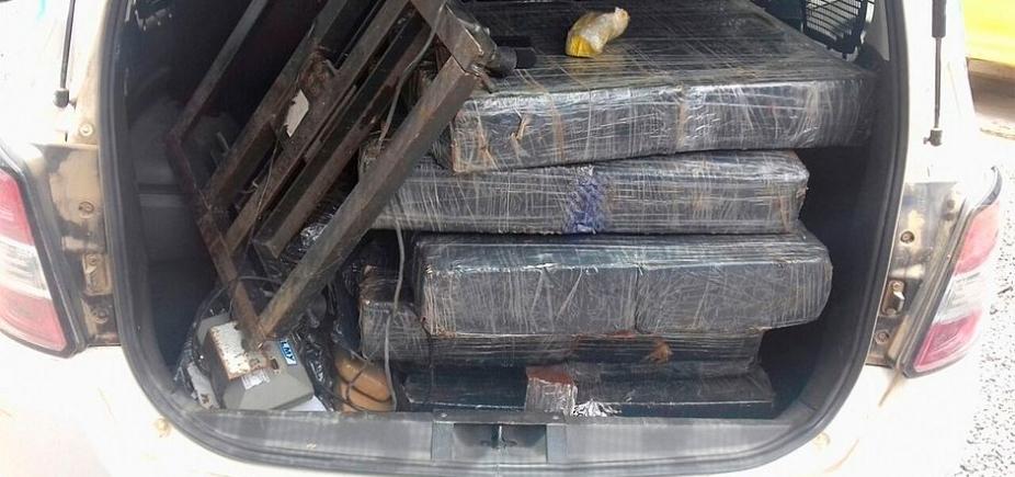 Depois de denúncia, 164 kg de drogas são apreendidos em Santo Estêvão