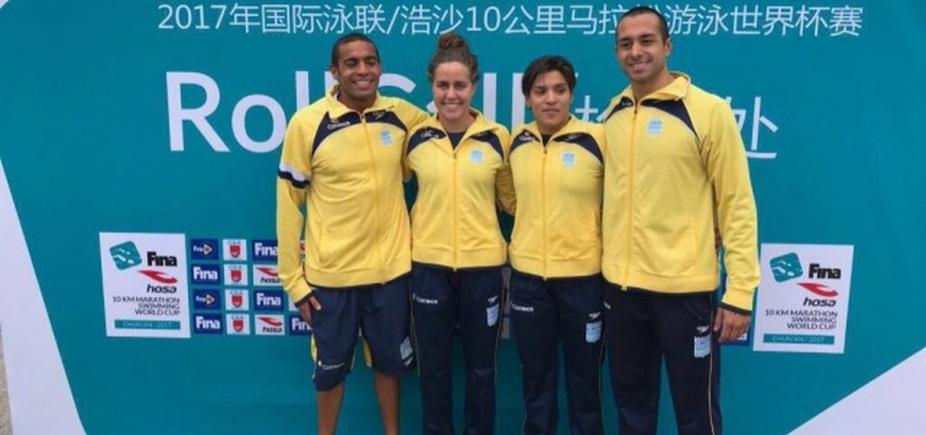 Ana Marcela conquista medalha de ouro na China; Allan do Carmo é prata