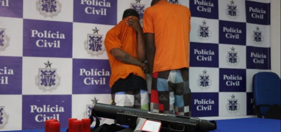 PM prende acusados de homicídio e apreende submetralhadora americana em São Cristóvão