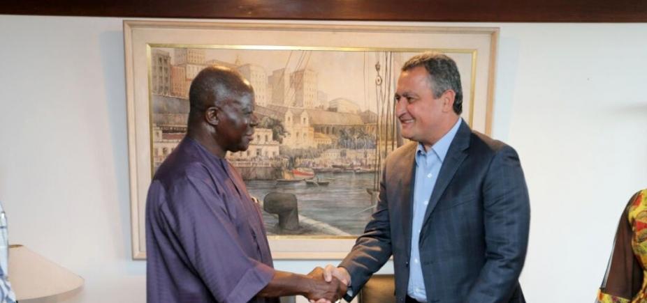 Governador recebe a visita do rei da nação Ashanti, de Gana