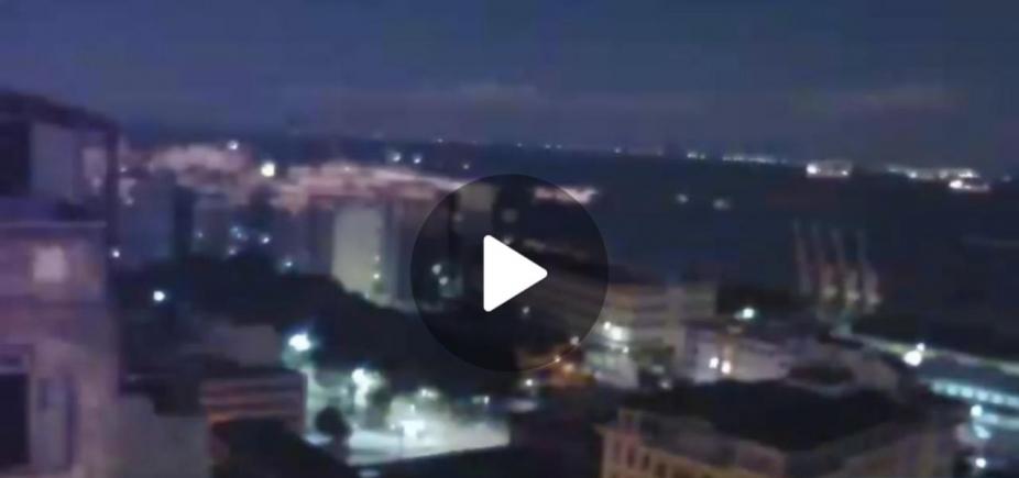 Vídeo mostra clarão no céu de Salvador; veja