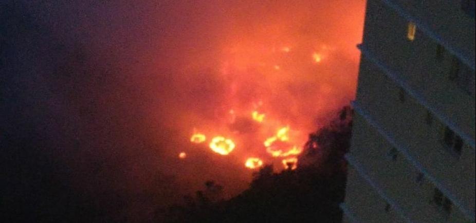 Incêndio atinge vegetação no Greenville; veja vídeo
