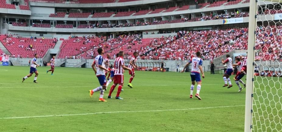 Com desfalques, Bahia perde de 1 x 0 para o Náutico em Recife