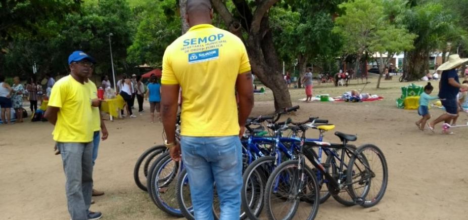Prefeitura apreende bicicletas irregulares no Parque da Cidade