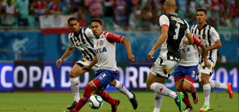 Jogo do Bahia contra Botafogo-PB tem horário alterado