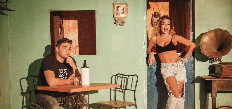 Anitta muda visual para gravar clipe com Wesley Safadão